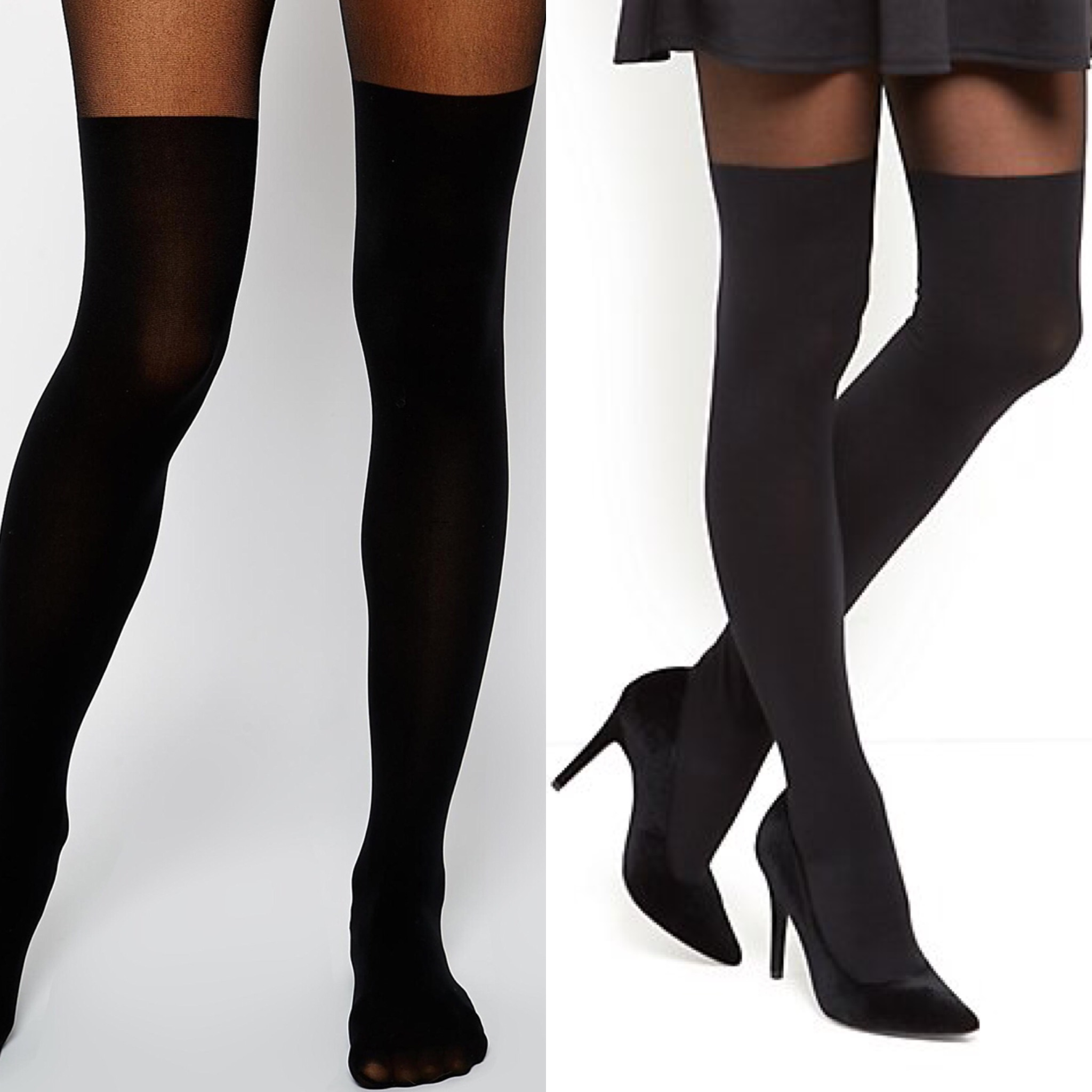 Collants effet bas cuissardes Asos New Look