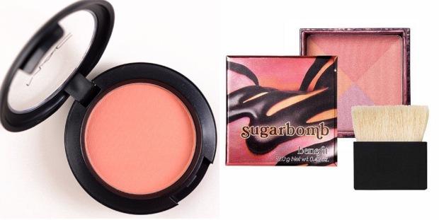 blush abricot pour peaux mates