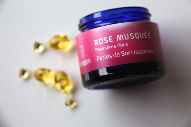 Perles de soin lissantes rose musquée Weleda